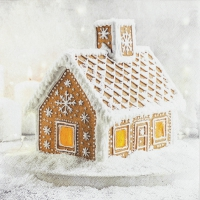 Servietten 33x33 cm - Gingerbread House
