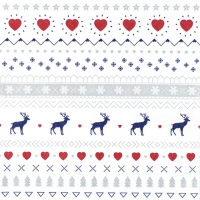 Servietten 33x33 cm - Winter Pattern white