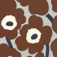 Servietten 25x25 cm - UNIKKO brown grey