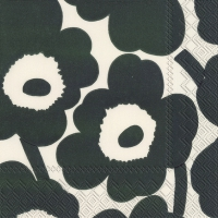 Servietten 25x25 cm - UNIKKO cream green
