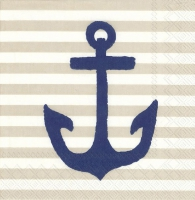 Servietten 25x25 cm - YACHT CLUB ANCHOR linen