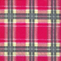 Cocktail Servietten FLANNEL CHECK red