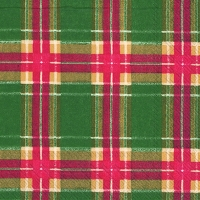 Cocktail Servietten FLANNEL CHECK green