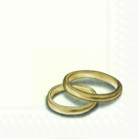 Servietten 25x25 cm - RINGS gold