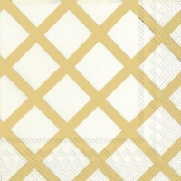 Cocktail Servietten QUILT gold
