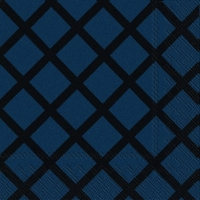 Cocktail Servietten QUILT dark blue