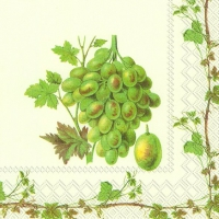 Servietten 25x25 cm - GRAPE HARVEST WHITE