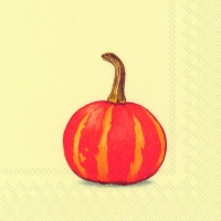 Servietten 25x25 cm - PUMPKIN PARTY cream