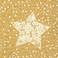 Cocktail Servietten CHRISTMAS LACE gold