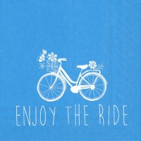 Servietten 25x25 cm - ENJOY THE RIDE blau