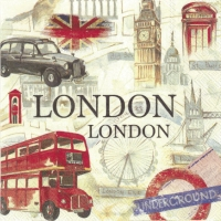 Servietten 25x25 cm - LONDON SIGHTSEEING