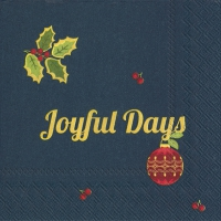 Servietten 25x25 cm - JOYFUL DAYS blue