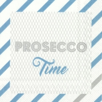 Cocktail Servietten PROSECCO TIME turquoise