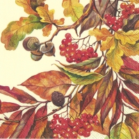 Servietten 25x25 cm - FALL COLORS creme