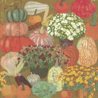 Servietten 25x25 cm - BOUNTIFUL HARVEST brown
