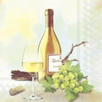 Servietten 25x25 cm - A GOOD WINE