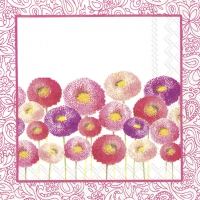 Servietten 25x25 cm - PRETTY BELLIS pink