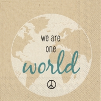 Servietten 25x25 cm - we are one world