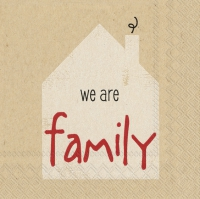 Servietten 25x25 cm - we are family