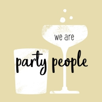 Servietten 25x25 cm - wir sind party people