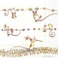 Servietten 25x25 cm - MICE GARLAND