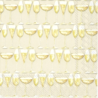 Servietten 25x25 cm - PARTY TIME Creme