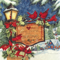Servietten 25x25 cm - COME HOME FOR CHRISTMAS