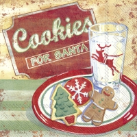 Servietten 25x25 cm - COOKIES FOR SANTA