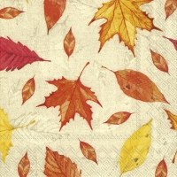 Servietten 25x25 cm - FEUILLES DAUTOMNE orange