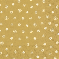 Servietten 25x25 cm - LITTLE JOY gold