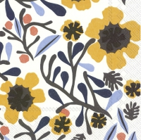 Servietten 25x25 cm - MYKERÖ white yellow