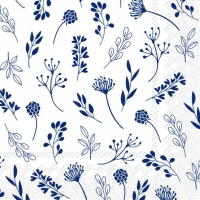 Servietten 25x25 cm - TILDA white dark blue