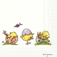 Servietten 25x25 cm - LOVELY LITTLE CHICKS