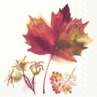 Servietten 25x25 cm - MAGIC OF AUTUMN cream
