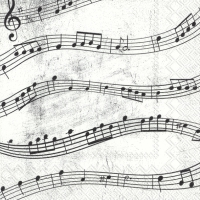 Servietten 25x25 cm - MUSIC NOTES