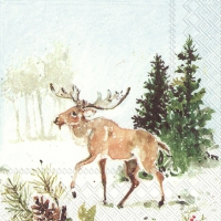 Servietten 25x25 cm - WOODLAND DEER AND MOOSE