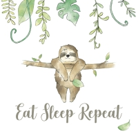 Servietten 25x25 cm - EAT SLEEP REPEAT