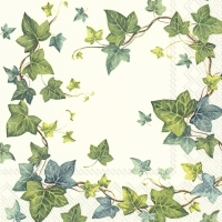 Servietten 25x25 cm - IVY´S DREAM white