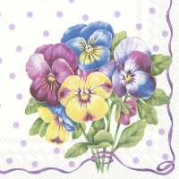 Servietten 25x25 cm - PURPLE PANSY light lilac