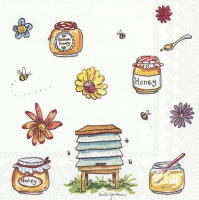 Servietten 25x25 cm - BEE HONEY