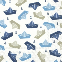 Servietten 25x25 cm - LITTLE PAPER BOATS