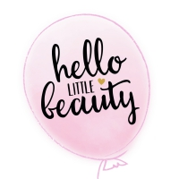 Servietten 25x25 cm - HELLO LITTLE BEAUTY light rose