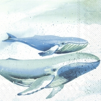 Servietten 25x25 cm - AQUAWORLD WHALE
