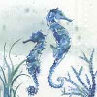 Servietten 25x25 cm - AQUAWORLD SEA HORSE