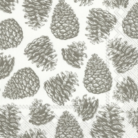Servietten 25x25 cm - MAGIC PINE white