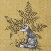 Napkins 25x25 cm - FOREST FRIENDS FOX ochre