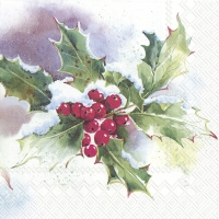 Servietten 25x25 cm - WINTER ILEX