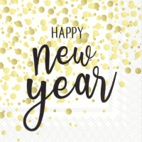 Servietten 25x25 cm - CONFETTI NEW YEAR gold