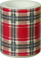 Kerze FLANNEL CHECK red