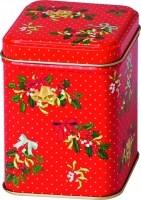 Teedose DECORATIVE HOLLY red